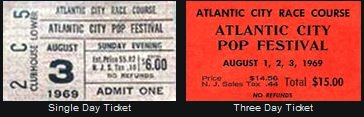 Ticket from the Atlantic City Pop Festival August 1969